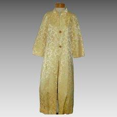 Ca 1950 Vintage Yellow Brocade Evening / Opera Coat