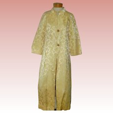 Ca 1950 Vintage Yellow Brocade Evening / Opera Coat