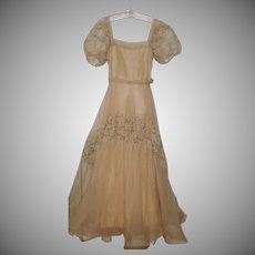 Lovely Vintage Gown Ca 1960