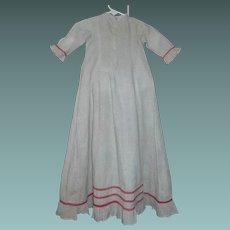 Nice Antique Cotton Calico Doll Gown, Papier Mache