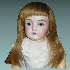 Wonderful Early Human Hair Doll Wig w Bangs