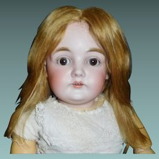 Nice Early Light Golden brown Human Hair Doll Wig