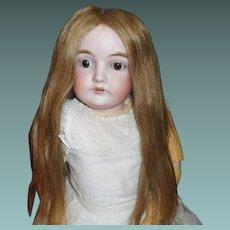 Pretty Long Human Hair Doll Wig