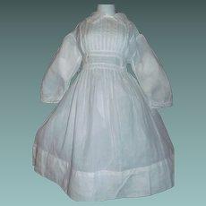 Pretty Antique Large Doll Dress, Handwerck / Kestner
