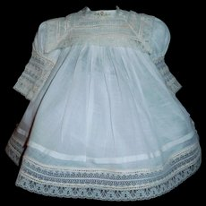 Lovely White Doll Dress. Lace and Roses