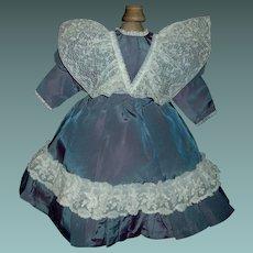 Nice Silk Satin Doll Dress with Lace