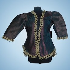 Nice Purple Silk French Fashion Doll Jacket