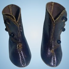 Pair of Antique Leather Doll Boots