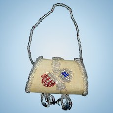 Wonderful Antique Beaded Doll Purse