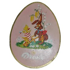 Nice Early Vintage Easter Chocolate Egg Shaped Box