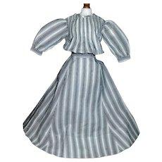 Nice Black and White Cotton Doll Dress, China, Papier Mache, Fashion