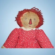 Early Vintage Raggedy Ann Doll, Multi Colored Legs