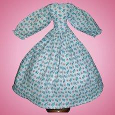 Vintage Floral Cotton Doll Dress, China