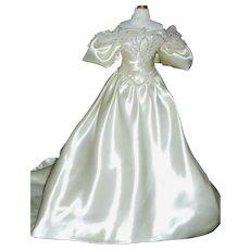 Fabulous Satin Fashion Doll Gown w Fashion Petticoat