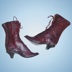 Wonderful Pair of Antique Leather Fashion Boots