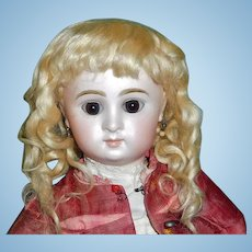 Fantastic Antique Blonde Mohair Doll Wig, French or German