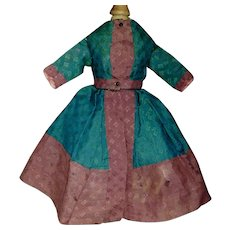 Lovely Antique Wool Challis Doll Dress, China, Fashion