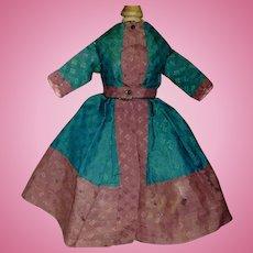Lovely Antique Wool Challis Doll Dress, China, Fashion