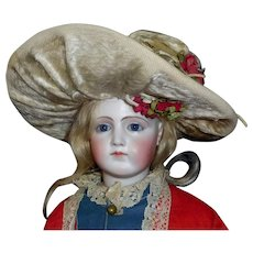 Fabulous Antique Fashion Mohair Doll Hat, Roses