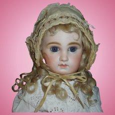 Sweet Antique Wool Doll Bonnet