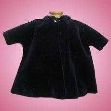 Nice Velvet Vintage Fashion Doll Coat