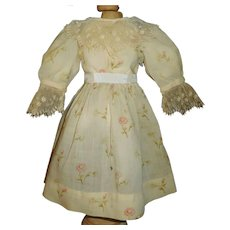 Pretty Antique Challis Bebe Dress