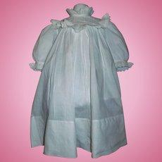 Lovely White Cotton Antique Large Doll Dress, Kestner, Handwerck