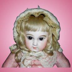 Wonderful Antique Doll Bonnet, French or German Bebe