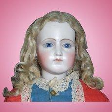 Pretty Antique Blonde Mohair Doll Wig, TLC
