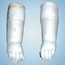 Pair of Matching Bisque Antique Doll Hands