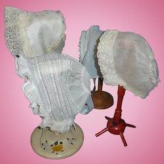 4 Lovely Antique Doll Bonnets