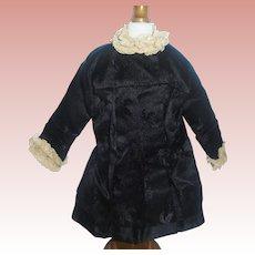 Black Silk Fashion Doll Coat