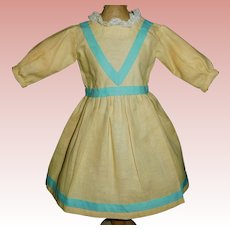 Nice Yellow Cotton Doll Dress