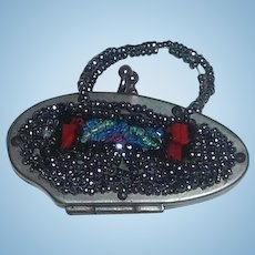 Small Metal Beaded Fashion Doll Purse