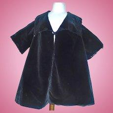 Nice Antique Black Velvet Large Doll Coat