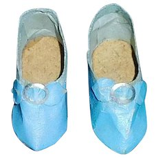 Pair of Blue Slip On Fashion Doll Shoes