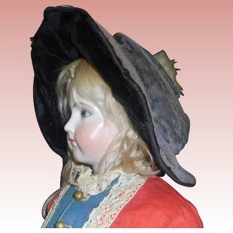 Antique Velvet Doll Hat, TLC