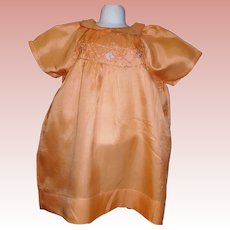 Early Orange Silk Dress, Child / Large Doll