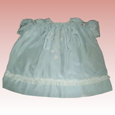 Sweet Early Blue Silk Child / Large Doll Dress