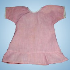 Small Pink and White Check Doll Chemise