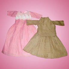 2 Vintage Doll Dresses