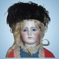 Vintage Black Velvet Fashion / Lady Doll Hat