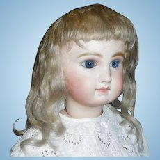Pretty Antique Blonde Mohair Wig
