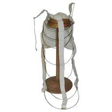 Wonderful Antique French Fashion Wire Skirt Bustle