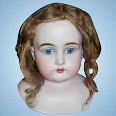 Nice Light Brown Antique Mohair Doll Wig,