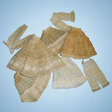 Fabulous Collection of Antique French Fashion Petticoats and Pantaloons