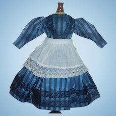 Pretty Silk Taffeta Doll Dress with Apron