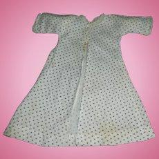 Antique Calico Print Doll Dress, Papier Mache, China