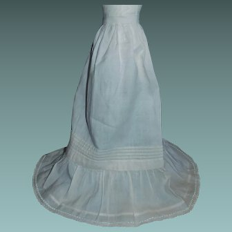 Nice Long :Petticoat for an Antique China, Papier Mache