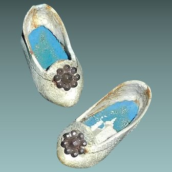Nice Pair of Antique French Fashion Shoes Needs TLC